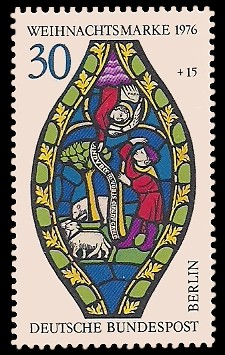 30 + 15 Pf Briefmarke: Weihnachtsmarke 1976