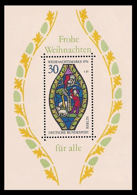 Briefmarke: Weihnachtsblock 1976