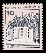 10 Pf Briefmarke: Burgen und Schlösser