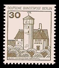 30 Pf Briefmarke: Burgen und Schlösser