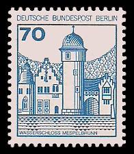 70 Pf Briefmarke: Burgen und Schlösser