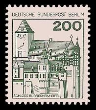 200 Pf Briefmarke: Burgen und Schlösser