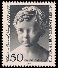 50 Pf Briefmarke: 200. Geburtstag Christian Daniel Rauch