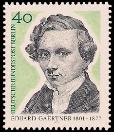 40 Pf Briefmarke: 100. Todestag Eduard Gaertner