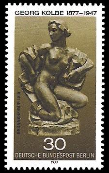 30 Pf Briefmarke: 100. Geburtstag Georg Kolbe