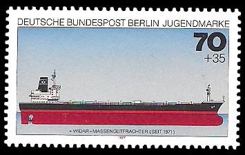 70 + 35 Pf Briefmarke: Jugendmarke 1977, Schiffe