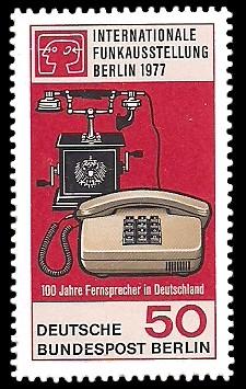 50 Pf Briefmarke: Internationale Funkausstellung Berlin
