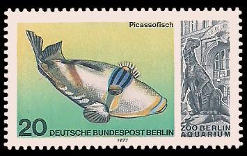 20 Pf Briefmarke: Aquarium im Zoo Berlin