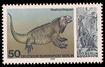 50 Pf Briefmarke: Aquarium im Zoo Berlin