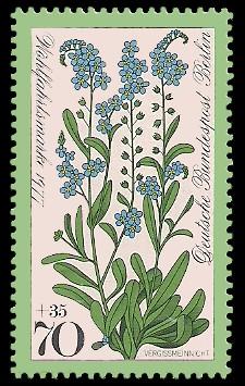 70 + 35 Pf Briefmarke: Wohlfahrtsmarke 1977, Wiesenblumen