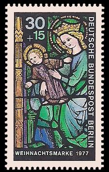 30 + 15 Pf Briefmarke: Weihnachtsmarke 1977