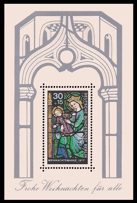 Briefmarke: Weihnachtsblock 1977