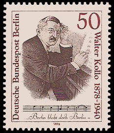 50 Pf Briefmarke: 100. Geburtstag Walter Kollo