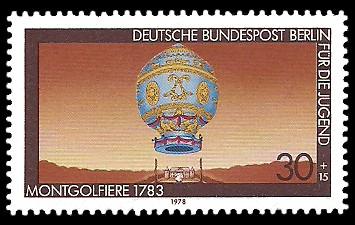 30 + 15 Pf Briefmarke: Für die Jugend 1978, Luftfahrtgeschichte
