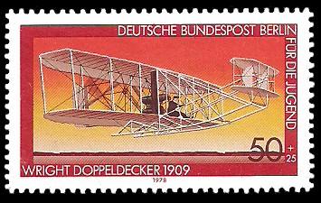 50 + 25 Pf Briefmarke: Für die Jugend 1978, Luftfahrtgeschichte