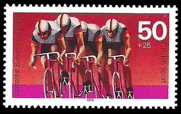 50 + 25 Pf Briefmarke: Für den Sport 1978