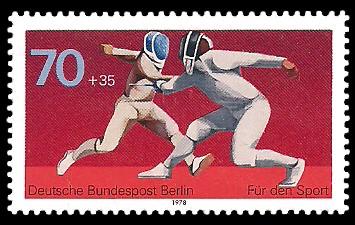 70 + 35 Pf Briefmarke: Für den Sport 1978