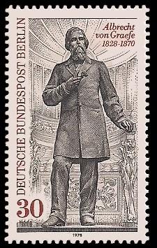 30 Pf Briefmarke: 150. Geburtstag Albrecht Graefe
