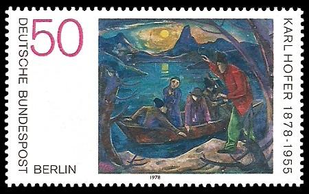 50 Pf Briefmarke: 100. Geburtstag Karl Hofer