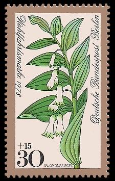 30 + 15 Pf Briefmarke: Wohlfahrtsmarke 1978, Waldblumen