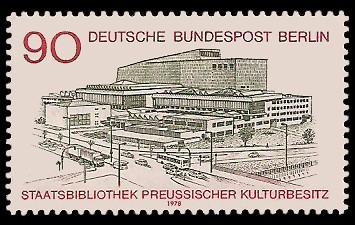 90 Pf Briefmarke: Eröffnung Staatsbibliothek Preussischer Kulturbesitz