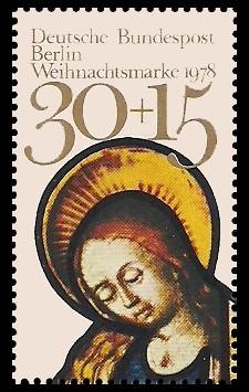 30 + 15 Pf Briefmarke: Weihnachtsmarke 1978