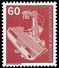 60 Pf Briefmarke: Industrie und Technik
