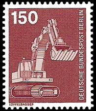 150 Pf Briefmarke: Industrie und Technik