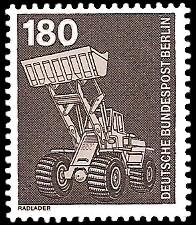 180 Pf Briefmarke: Industrie und Technik