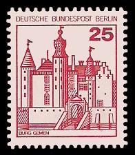 25 Pf Briefmarke: Burgen und Schlösser