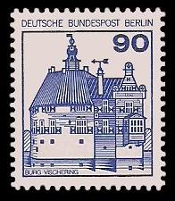 90 Pf Briefmarke: Burgen und Schlösser