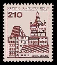 210 Pf Briefmarke: Burgen und Schlösser