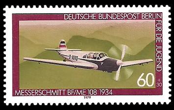 60 + 30 Pf Briefmarke: Für die Jugend 1979, Luftfahrtgeschichte