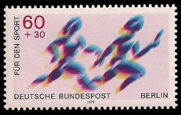 60 + 30 Pf Briefmarke: Für den Sport 1979