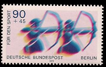 90 + 45 Pf Briefmarke: Für den Sport 1979