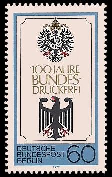 60 Pf Briefmarke: 100 Jahre Bundesdruckerei Berlin