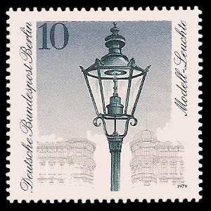 10 Pf Briefmarke: Historische Straßenlaternen Berlins