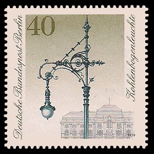 40 Pf Briefmarke: Historische Straßenlaternen Berlins