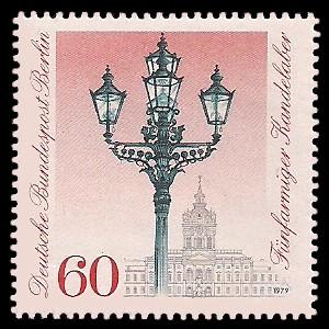 60 Pf Briefmarke: Historische Straßenlaternen Berlins