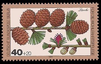 40 + 20 Pf Briefmarke: Wohlfahrtsmarke 1979, Wald-Blüten u Früchte
