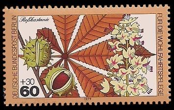 60 + 30 Pf Briefmarke: Wohlfahrtsmarke 1979, Wald-Blüten u Früchte