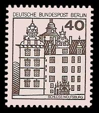 40 Pf Briefmarke: Burgen und Schlösser