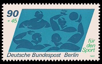 90 + 45 Pf Briefmarke: Für den Sport 1980