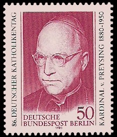 50 Pf Briefmarke: 86. Deutscher Katholikentag