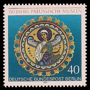 40 Pf Briefmarke: 150 Jahre Preussische Museen