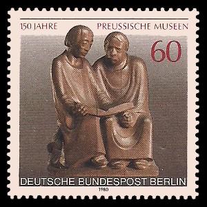 60 Pf Briefmarke: 150 Jahre Preussische Museen
