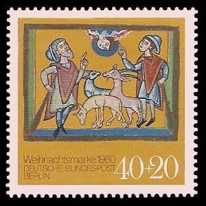 40 + 20 Pf Briefmarke: Weihnachtsmarke 1980