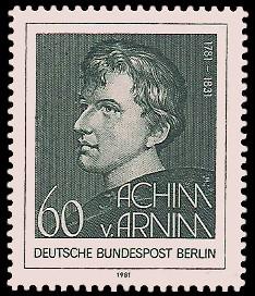 60 Pf Briefmarke: 200. Geburtstag Achim von Arnim
