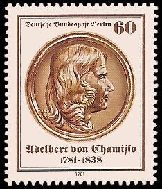 60 Pf Briefmarke: 200. Geburtstag Adelbert von Chamisso