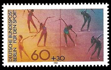 60 + 30 Pf Briefmarke: Für den Sport 1981